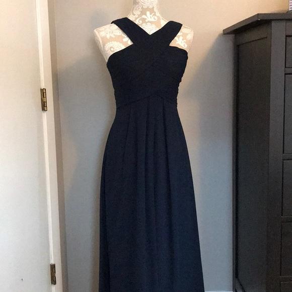 151796d72ac Bill Levkoff Dresses   Skirts - Bill Levkoff  1218 Navy Blue Long Bridesmaid  Dress
